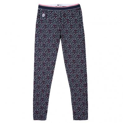 Le Toudou Mots croisés - Bas de pyjama bleu imprimé