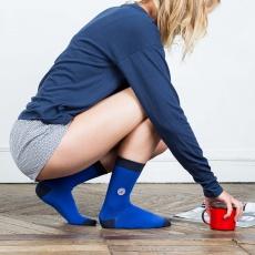 Les Lucas - Chaussettes femme bleues cobalt