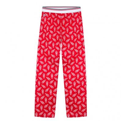 Le Charlot homards - Bas de pyjama rouge imprimé