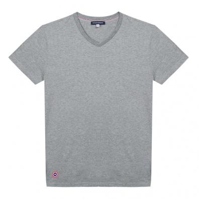 Le Julien gris - T-shirt gris Col V