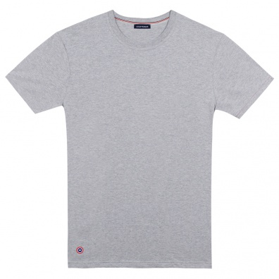 Le Jean gris - T-shirt Gris Chiné Col rond