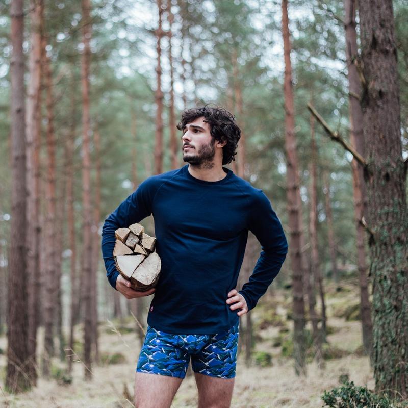 le bobby bleu marine t shirt raglan bleu marine homme. Black Bedroom Furniture Sets. Home Design Ideas