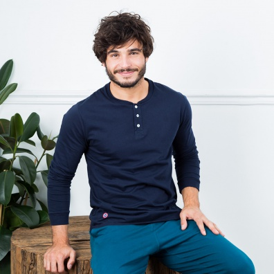 Le Roger Marine - T-shirt tunisien marine