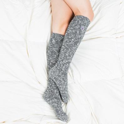 Les Alfred grises - Chaussettes hautes grises femme