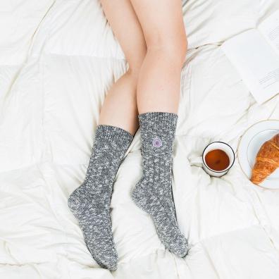Les Martin grises - Chaussettes grises femme