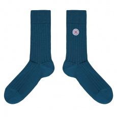 Les Nessy canard - chaussettes fil d'écosse bleu canard homme