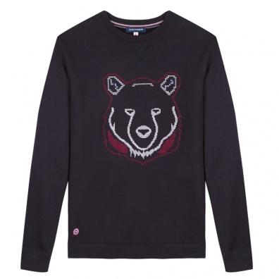 Le Robin ours - Sweatshirt bleu marine imprimé ours