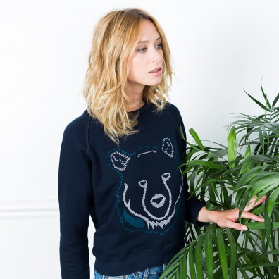 La Sophie Ours - Sweat bleu