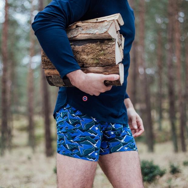 Le Michel camouflage - Boxer long à imprimé camouflage