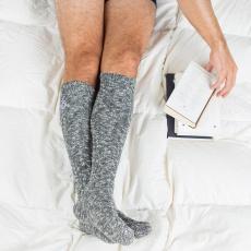 Les Alfred grises - Chaussettes hautes grises homme
