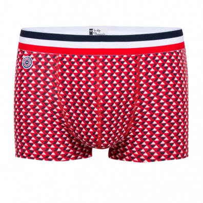 Le Tire Fesse - Boxer multi-triangle rouge