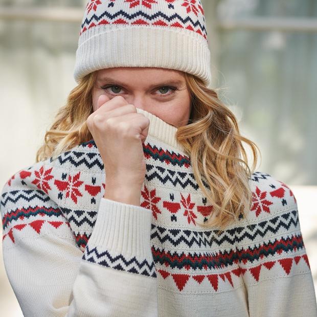 La Mylène guirlande écrue - Pull en laine