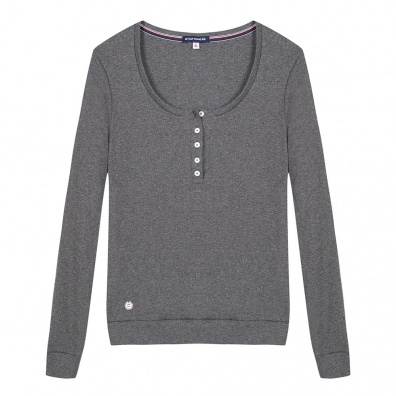 La Odile Grise - T-shirt manches longues gris