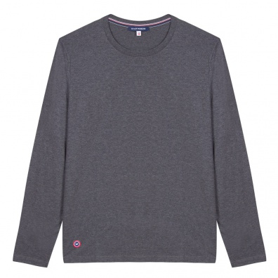 Le Damien Anthracite - T-shirt manches longues anthracite
