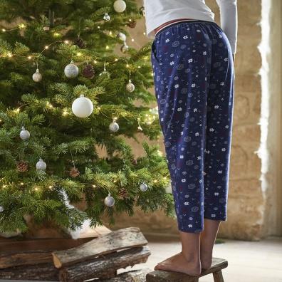 La Chouchou Flocons - Bas de pyjama imprimé flocons