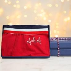 Le Marius oh oh oh Noël - Boxer Rouge Edition limitée brodé argent